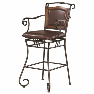 Charlcombe Wood Accented Metal 46 Bar Stool