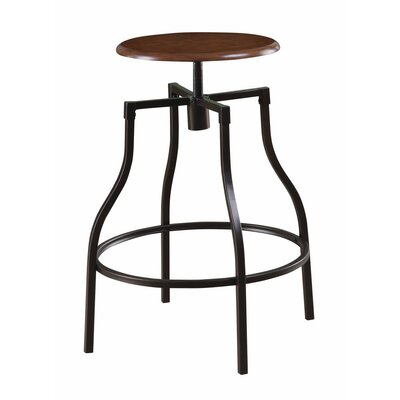 Hennigan Swivel Adjustable Height Bar Stool
