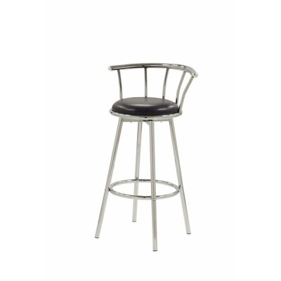 Harden Distressed Metal 30 Bar Stool Color: Black/Silver
