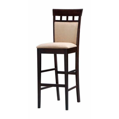 Gagner Comfy Upholstered Panel 31 Bar Stool