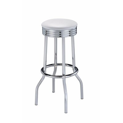 Hunter Metal Retro Ribbed 31 Bar Stool