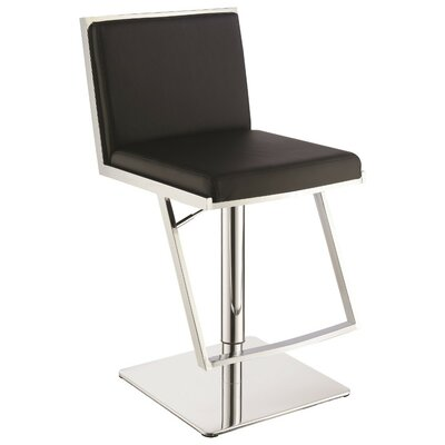 Wunderlich Metal Adjustable Height Swivel Bar Stool Color: Black