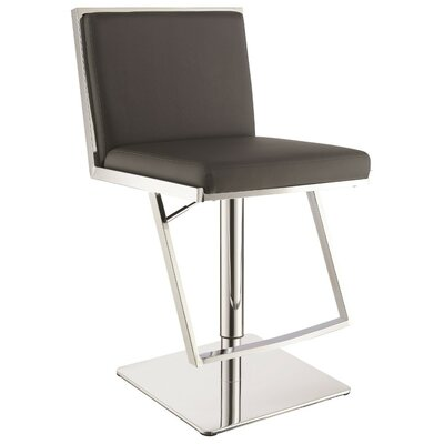 Wunderlich Metal Adjustable Height Swivel Bar Stool Color: Gray