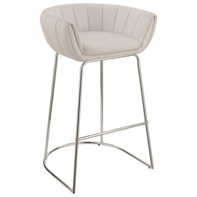 Wyant Low Back 31 Bar Stool Color: White