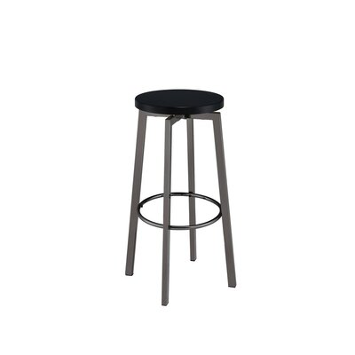 Marenco Chic Round 30.25 Bar Stool Color: Black