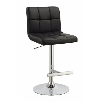 Wooldridge Sophisticated Armless Adjustable Height Swivel Bar Stool