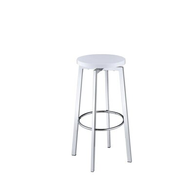 Marenco Chic Round 30.25 Bar Stool Color: White