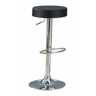Woolfolk Stylish and Elegant Backless Adjustable Height Swivel Bar Stool