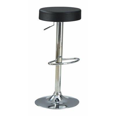 Woolfolk Stylish and Elegant Backless Adjustable Height Swivel Bar Stool