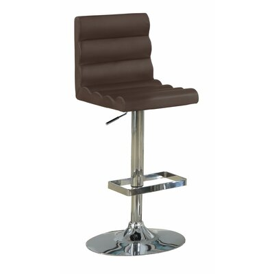 Woollard Armless Rolled Adjustable Height Swivel Bar Stool