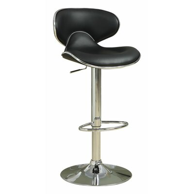 Woolum Scooped Adjustable Height Swivel Bar Stool