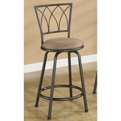 Hardesty Metal Adjustable Height Bar Stool