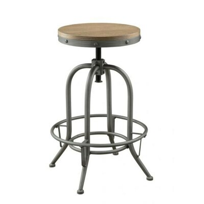 Eggleston Round Adjustable Height Swivel Bar Stool