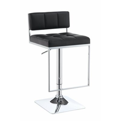 Worsley Adjustable Height Swivel Bar Stool Color: Black