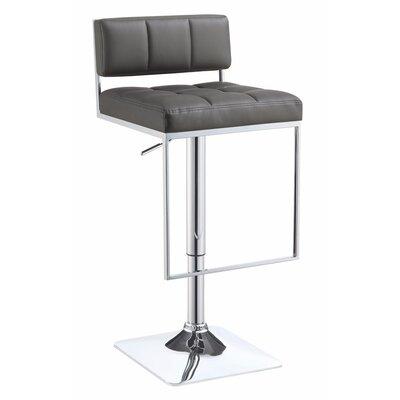Worsley Adjustable Height Swivel Bar Stool Color: Gray