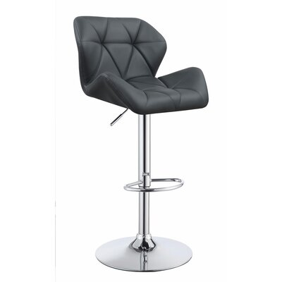 Worthley Adjustable Height Swivel Bar Stool Color: Gray