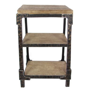Hochstetler Industrial 3 Tiered Bracketed End Table