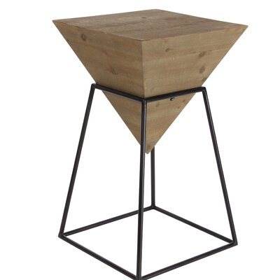 Perryville Pyramid End Table Color: Brown