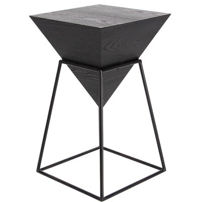 Perryville Pyramid End Table Color: Black