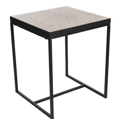 Regil Contemporary Square End Table Color: Black