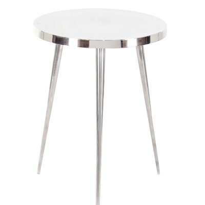 Mosher Contemporary Round 3 Leg End Table Table Top Color: White