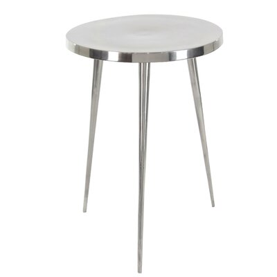 Mosher Contemporary Round 3 Leg End Table Table Top Color: Gray