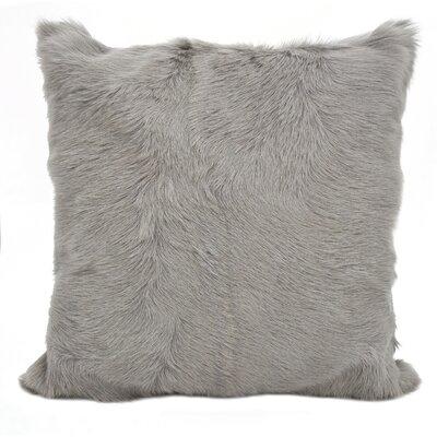 Oquinn Goat Fur Throw Pillow Color: Gray