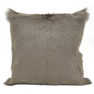 Oquinn Goat Fur Throw Pillow Color: Ivory