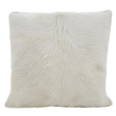 Oquinn Goat Fur Throw Pillow Color: Natural