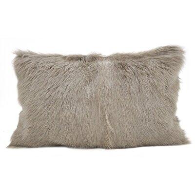 Oquinn Goat Fur Lumbar Pillow Color: Ivory