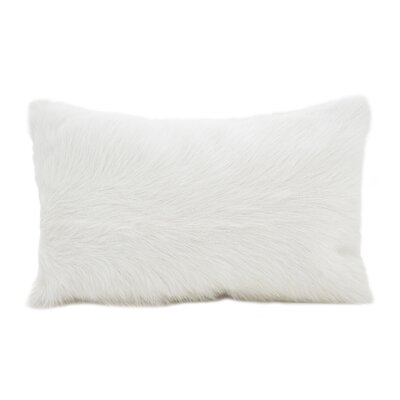 Oquinn Goat Fur Lumbar Pillow Color: Natural