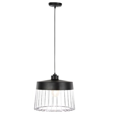 Sigman 1-Light Contemporary Cage Drum Pendent