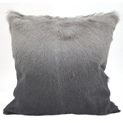 Oquinn Goat Fur Throw Pillow Color: Slate