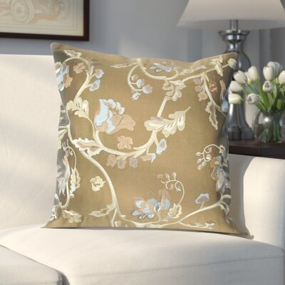 Northledge Taffeta Throw Pillow Color: Brown