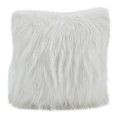 Hudspeth Faux Fur Long Hair Throw Pillow Color: Ivory