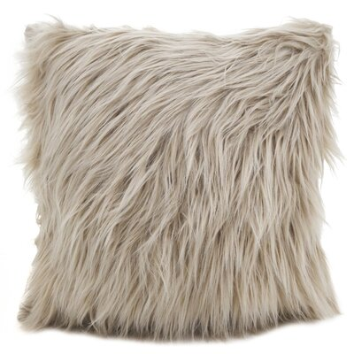 Hudspeth Faux Fur Long Hair Throw Pillow Color: Natural