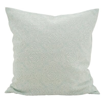 Vanvalkenburg Stitches Down Filled Throw Pillow Color: Duck Egg Blue
