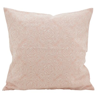 Vanvalkenburg Stitches Down Filled Throw Pillow Color: Rose