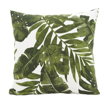 Woodburn Lush Palms Throw Pillow Size: 17 x 17