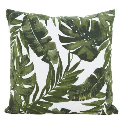 Woodburn Lush Palms Throw Pillow Size: 21 x 21