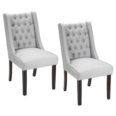 Plaistow Button Tufted Upholstered Dining Chair Upholstery: Gray