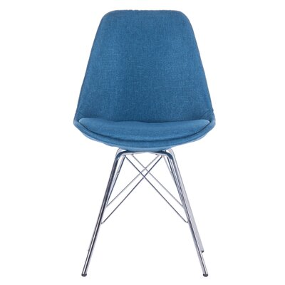 Dunkerton Upholstered Dining Chair Upholstery Color: Blue