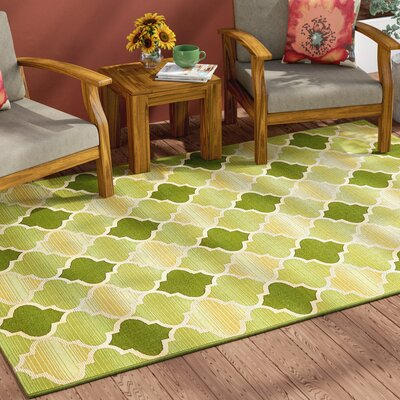 Alice Green Indoor/Outdoor Area Rug Rug Size: Rectangle 8 x 11