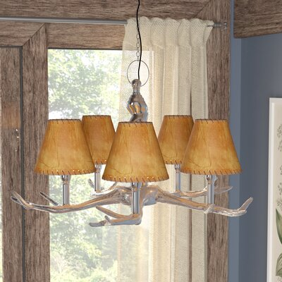 6 Faux Leather Empire Candelabra Shade with Trim