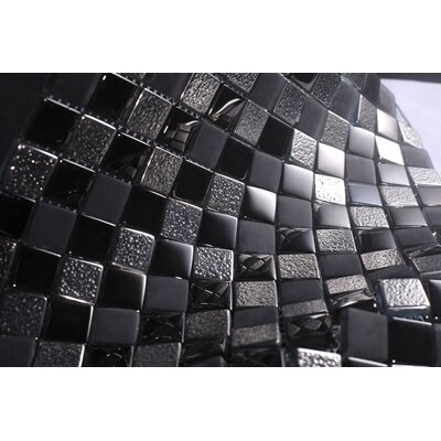 1 x 1 Glass Tile in Black