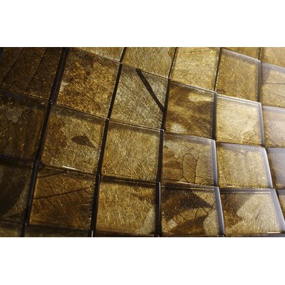 2 x 2 Glass Tile in Gold