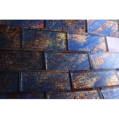 2 x 4 Glass Tile in Blue