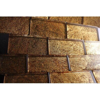 2 x 4 Glass Tile in Brown