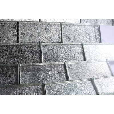 2 x 4 Glass Tile in Silver
