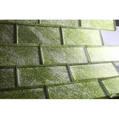 2 x 4 Glass Tile in Green